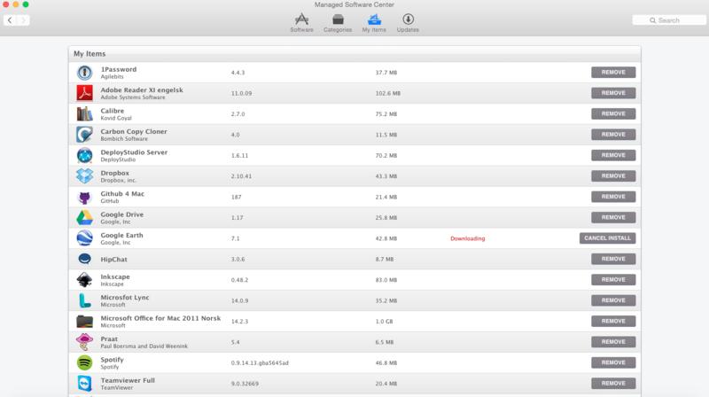 Mac OS X: Managed Software Center - IThelp @ UiB