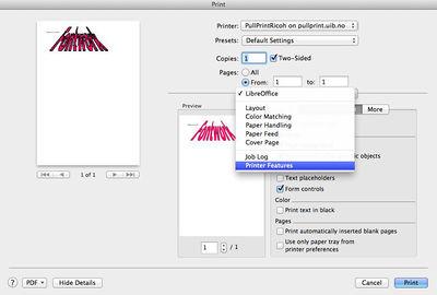 Mac OS X PullPrint